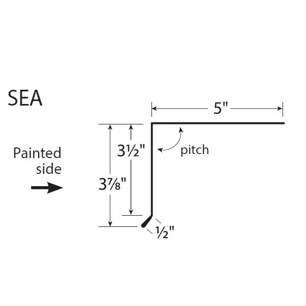 U-Panel Short Eave Trim