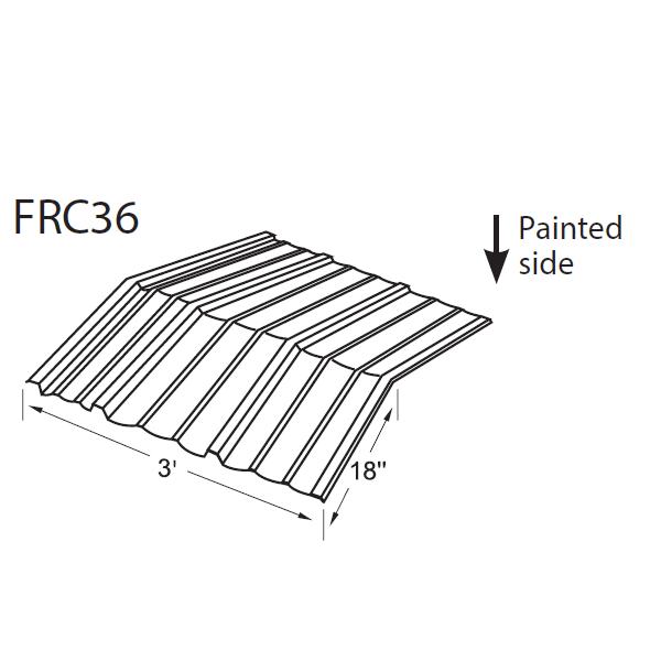 R-Panel Formed Ridge Cap