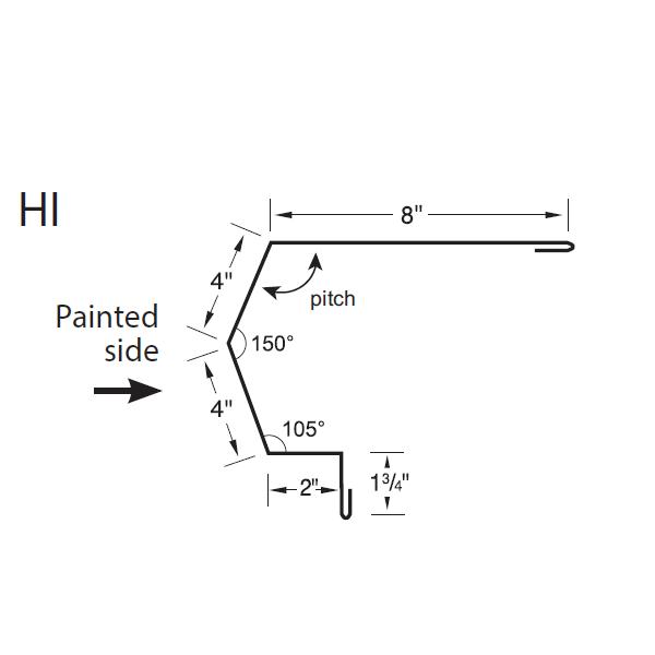R-Panel High Side Eave Trim