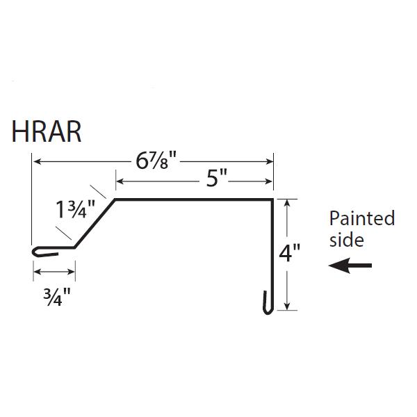 R-Panel House Rake Trim