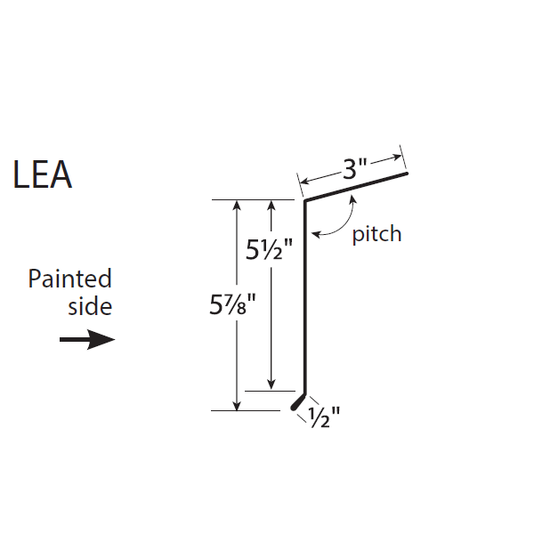 R-Panel Long Eave Trim