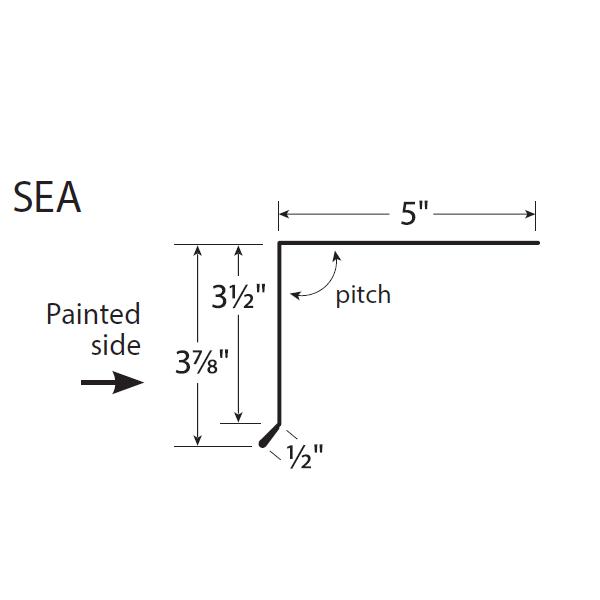 R-Panel Short Eave Trim